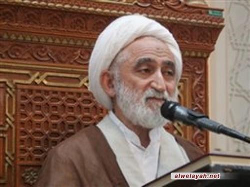 آية الله أستادي، خطيب جمعة قم: كان الإمام الخميني يوصي بالوحدة والولاية وينهى عن الاختلاف والتشتت