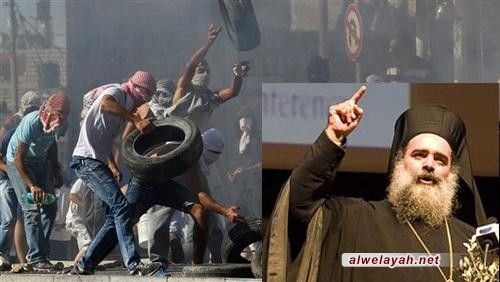 الأسقف عطا الله حنا: أمريكا تشارك الصهاينة في جريمة قتل الفلسطينيين