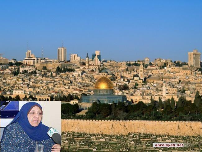 كاتبة إسلامية تؤكد ضرورة تحرك الشعوب ضد المشروع الصهيوني