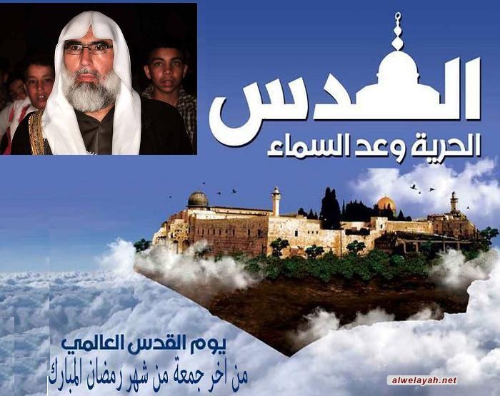 عبدالله الشامي: يوم القدس التفاتة مبدعة للإمام الخميني تعكس رؤيته الفذة