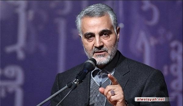 اللواء سليماني: مؤشرات تصدير الثورة الإسلامية باتت مشهودة اليوم في كل المنطقة