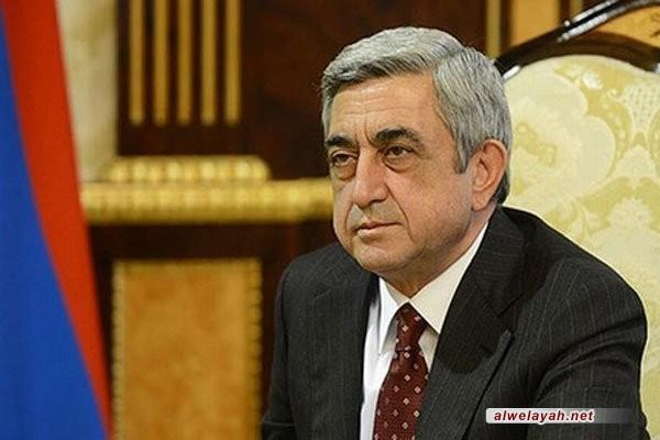 الرئيس الأرميني يهنئ ذكرى انتصار الثورة الإسلامية في إيران