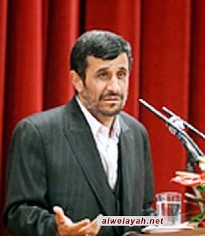 احمدي نجاد يؤكد على الجهود الحثيثة لتحقيق مبدأ الجهاد الاقتصادي