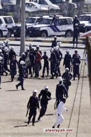 قوات الأمن البحرينية تعتدي على تشييع جنازة شهيد