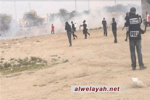 انطلاق الزحف الجماهيري في البحرين وسط مواجهات مع قوات النظام