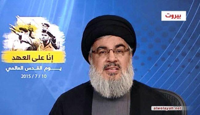 السيد نصر الله: الأمل الوحيد لاستعادة فلسطين هو إيران ودعمها للشعوب والمقاومة