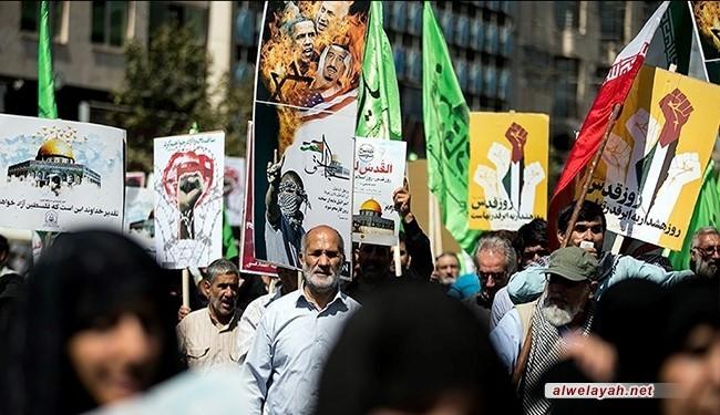 إيران تحيي يوم القدس العالمي بمسيرات حاشدة + صور