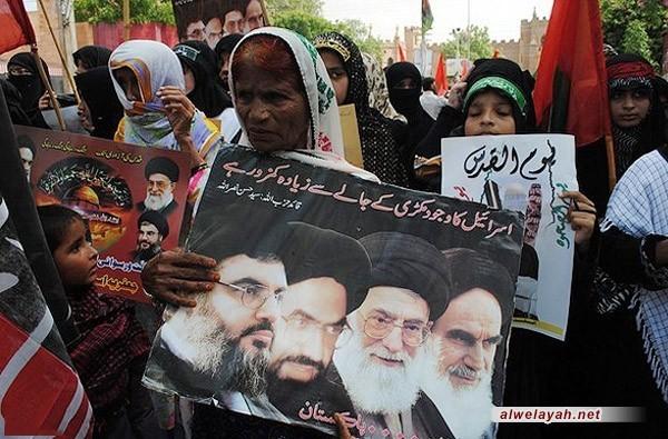 تزامناً مع الذكرى السنوية الـ 19 تظاهرات ضد الكيان الصهيوني في باكستان