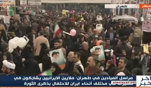 مسيرات الثورة الإسلامية تشهد أصداء واسعة في الإعلام العالمي