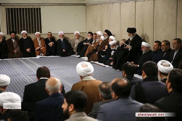 بحضور قائد الثورة الإسلامية؛ إقامة مراسم تأبين آية الله الهاشمي الشاهرودي