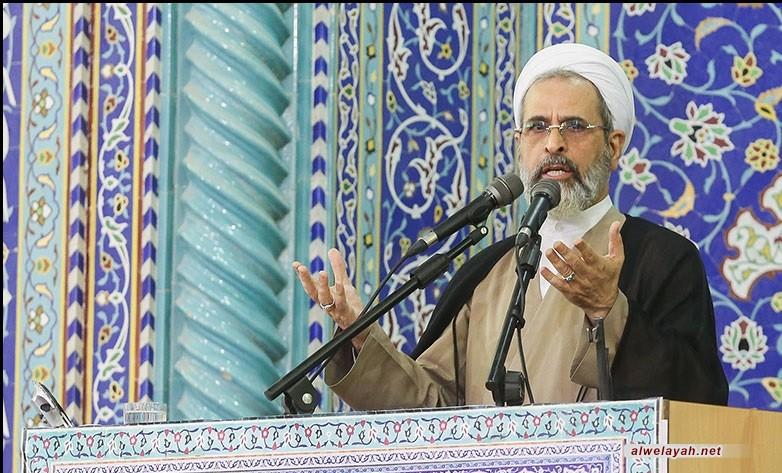 خطيب جمعة قم المقدسة: اقتدار الثورة الإسلامية أثار غضب الأعداء