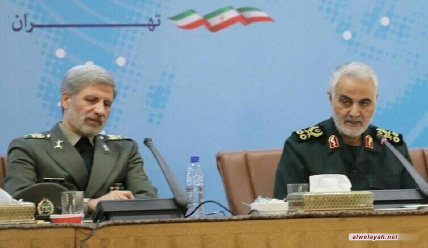 وزير الدفاع الإيراني يثمن جهود اللواء سليماني في المراحل المختلفة