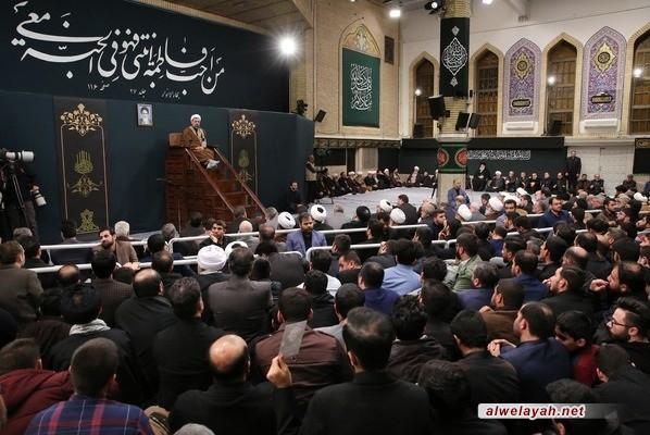 إقامة الليلة الثانية من مجلس عزاء بمناسبة ذكرى استشهاد السيدة فاطمة الزهراء (س) بحضور قائد الثورة