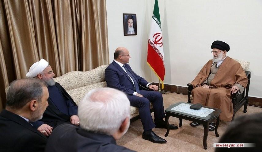 قائد الثورة الإسلامية: إيران تحرص على وجود عراق قوي ومستقل