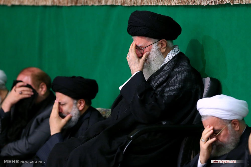 إقامة مراسم عزاء ليلة تاسوعاء الحسين (ع) بحضور قائد الثورة الإسلامية