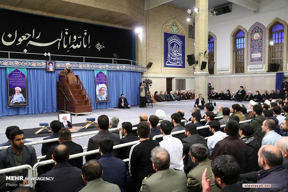 مراسم تأبين آية الله مؤمن في حسينية الإمام الخميني