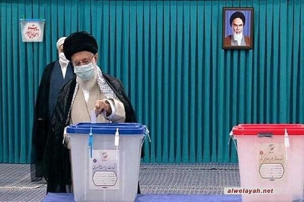 قائد الثورة الإسلامية يوم الانتخابات هو يوم الشعب الإيراني/ الشعب هو من سيقرر مستقبل البلاد للسنوات المقبلة