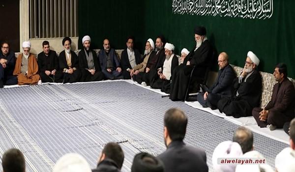 بحضور قائد الثورة الإسلامية إقامة الليلة الثانية من مراسم العزاء بذكر ى استشهاد السيدة فاطمة الزهراء (س)