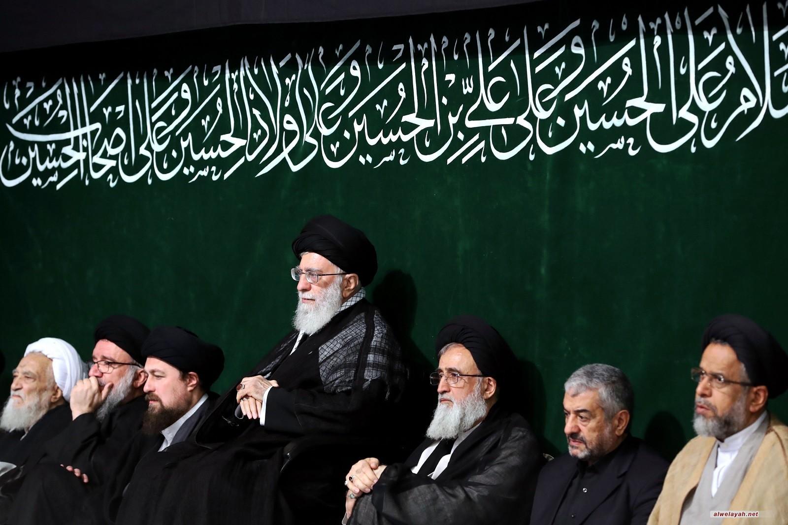 إحياء مجلس عزاء سيد الشهداء (الليلة الأخيرة) بحضور الإمام الخامنئي