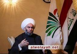 رئيس جماعة علماء العراق: الثورة الإسلامية في طريقها إلى إرداء الصهيونية والماسونية العالمية