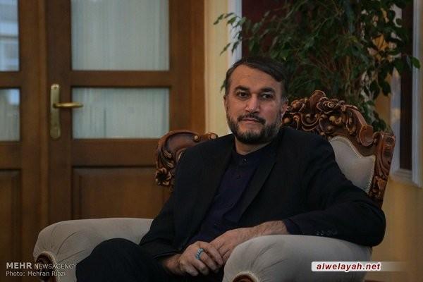 أميرعبداللهيان: المقاومة ستنهي كيان الاحتلال وسنصلي قريباً في القدس