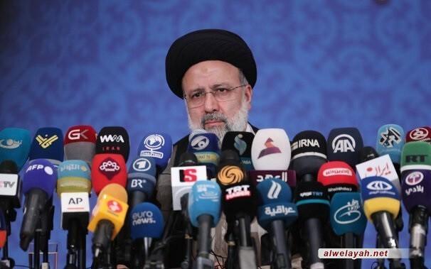 في مؤتمر صحفي؛ السيد رئيسي: سنمضي على خطى الشهيد الحاج سليماني والمثل العليا للثورة الإسلامية