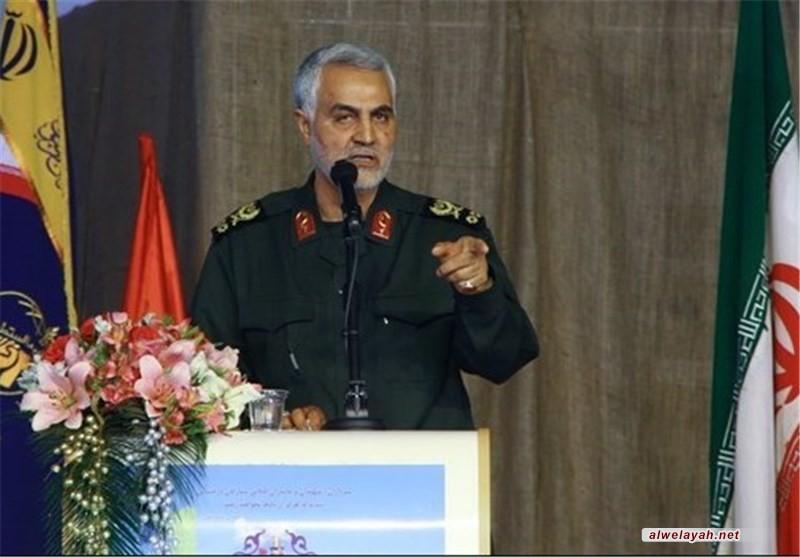 """اللواء سلیماني: المجتمع بحاجة لثقافة """"التضحیة والشهادة"""""""