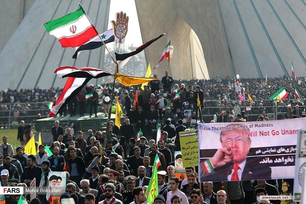 بيان مسيرات الذكرى39 لانتصار الثورة الإسلامية في إيران