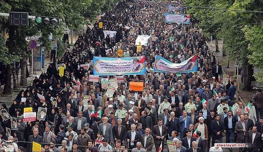 تظاهرات تعم المدن الإيرانية تنديدا بتنصل ترامب من الاتفاق النووي