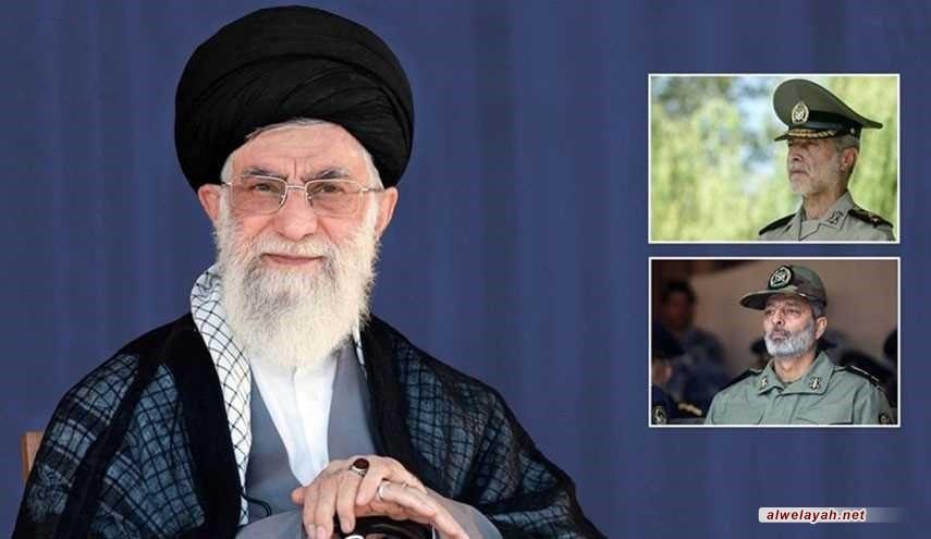 بقرار من قائد الثورة الإسلامية؛ اللواء موسوي قائدا للجيش واللواء صالحي نائبا لرئيس هيئة الأركان العامة
