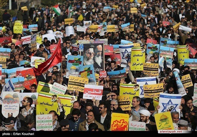 انطلاق أكثر من ألف تظاهرة في إيران تنديداً بقرار ترامب