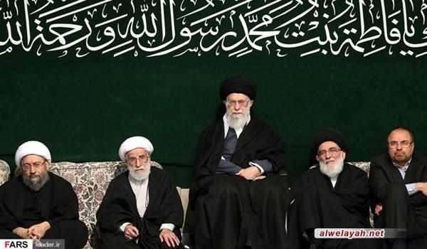 إحياء الليلة الثانية من الليالي الفاطمية في حسينية الإمام الخميني بحضور الإمام الخامنئي