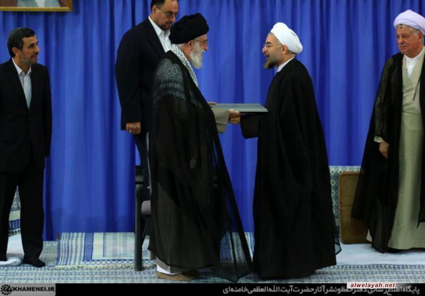 تقرير مصور عن تنصيب الرئيس المنتخب حسن روحاني من قبل الإمام الخامنئي