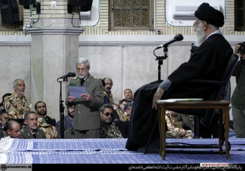 تقرير مصور عن لقاء قادة الجيش وقوات التعبئة الشعبية مع القائد في يوم الجيش