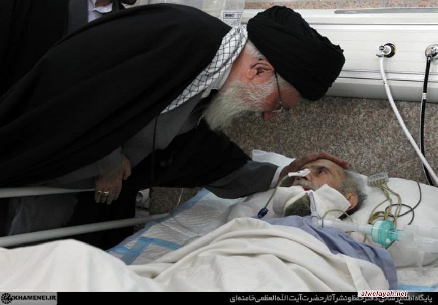 تقرير مصور عن عيادة قائد الثورة الاسلامية لآية الله طاهري خرم آبادي