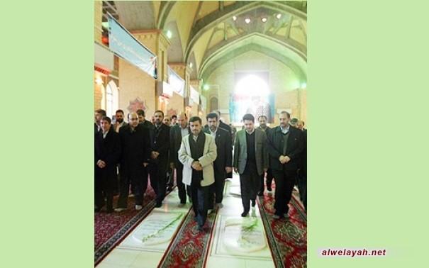 رئيس الجمهورية وأعضاء الحكومة يزورون مرقد الإمام الخميني