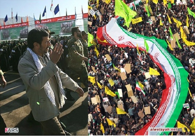 أحمدي نجاد: انتصار الثورة أحدث نقلة كبرى في مسيرة البشرية