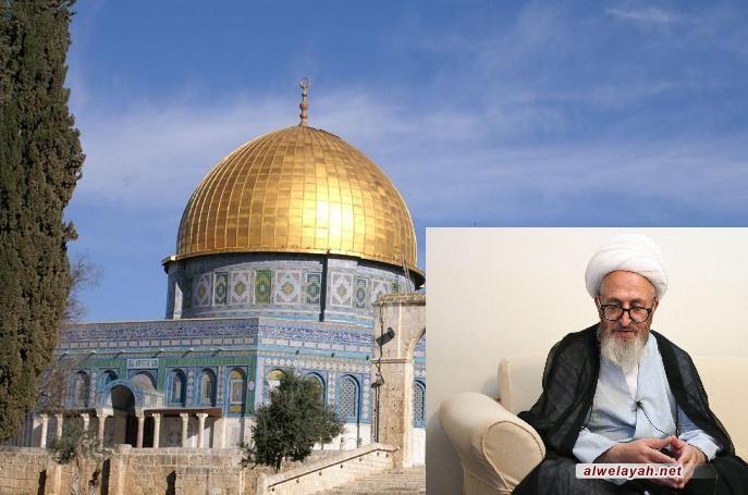 آية الله سبحاني: صراع الشعب الفلسطيني مع الصهاينة جهاد في سبيل الله
