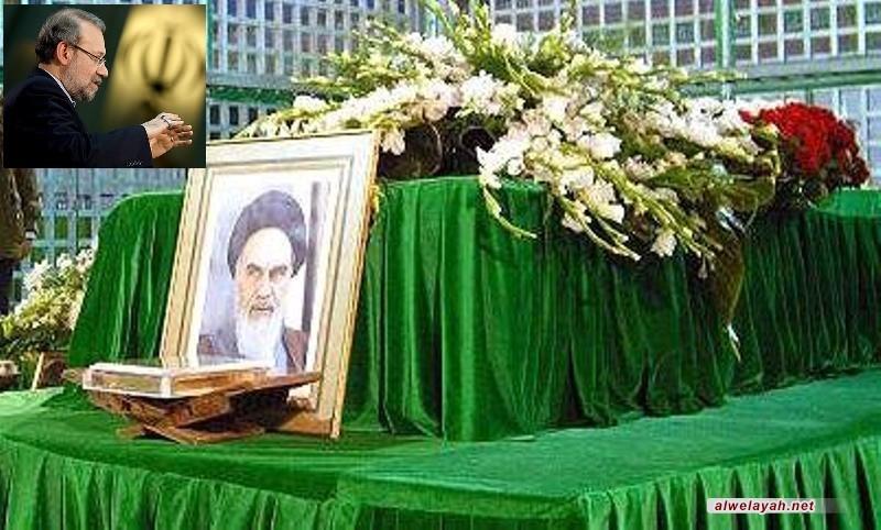 رئيس ونواب مجلس الشورى يجددون العهد بالوفاء لأهداف الإمام الخميني