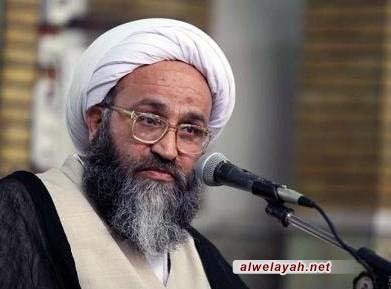 آية الله الحيدري: لقد استلهمت الشعوب المسلمة تصديها للظلم والطغيان من ثورة الشعب الإيراني