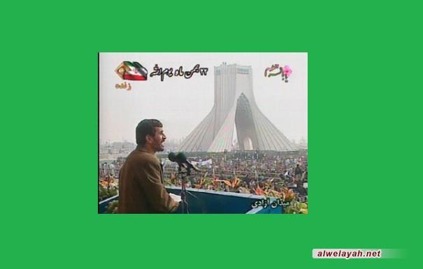 أحمدي نجاد: الثورة الإسلامية هي استمرار لنهضة الأنبياء