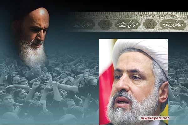 الشيخ نعيم قاسم: الإمام الخميني هو رائد الوحدة في القرن العشرين