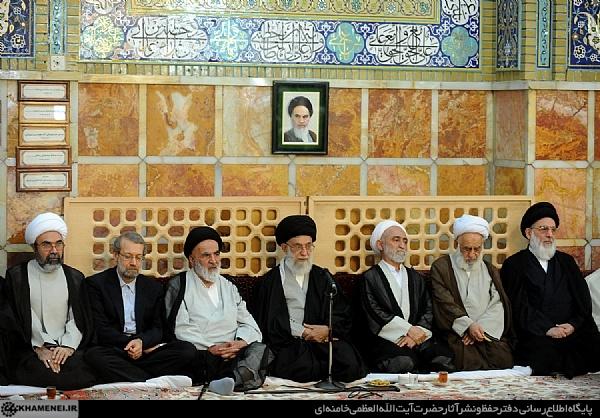 الإمام الخامنئي يلتقي آية الله العظمى السيد محمد الشاهرودي في مدينة قم المقدسة