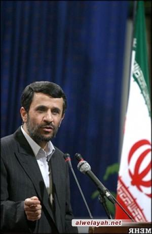 أحمدي نجاد: انتصار الثورة أكبر حدث في حياة البشرية بعد أحداث صدر الإسلام