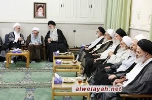 القائد يلتقي المراجع العظام الشيخ مكارم شيرازي والشيخ سبحاني