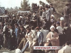 خطاب الإمام الخميني في مقبرة جنة الزهراء عند عودته إلى إيران بعد خمسة عشر عاماً من النفي