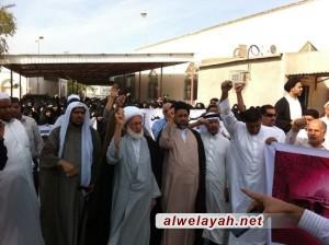 المجلس الإسلامي العلمائي ينظم وقفة احتجاجية جماهيرية على هدم المساجد واستمرار التعدي على المصلين في البحرين