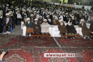 العلماء يؤبنون شهداء البحرين وسط حضور جماهيري حاشد