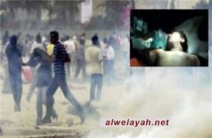 استشهاد المواطن البحريني جعفر جاسم رضي جراء استخدام قوات النظام الغازات السامة