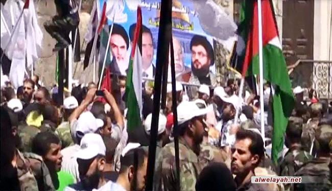 سوريا تحيي يوم القدس بمسيرة وسط دمشق